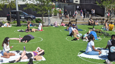 Photo of Individuals want social distancing circles in Toronto parks
